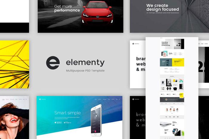 elementary-psd-website-template