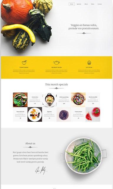 قالب مخصص للمطعام والخضروات