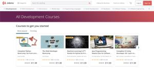 موقع يوديمى تصنيف تطوير الويب
