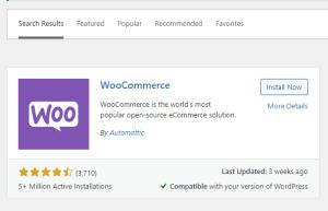إضافة WooCommerce