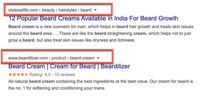 مثال على Breadcrumbs فى محركات البحث